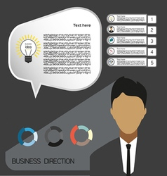 Business idea infographic with icons persons and c vector