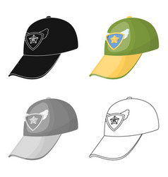 Cap football fanfans single icon in cartoon style vector