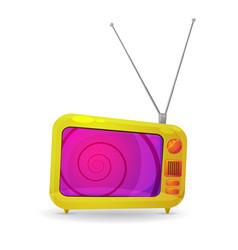 cartoon tv vector image