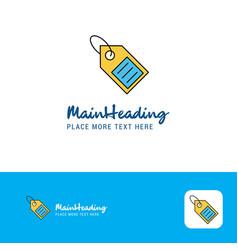 creative sale tag logo design flat color logo vector image