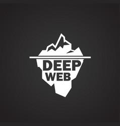 Deep web icon on black background vector