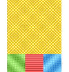 Different lines background set gridded diagonal vector