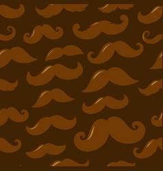 different sillhouettes moustache seamless vector image