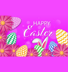 easter poster and banner template with eggs vector image