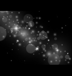 effect light glowing magic stardust white vector image