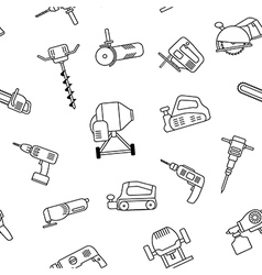 electric power tools seamless pattern vector image