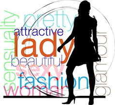 Fashion woman silhouette vector image