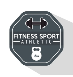 Fitness sport athletic barbell kettlebell hard vector