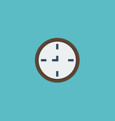 flat icon wall clock element vector image