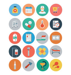 Flat Medical and Health Icons 4 vector