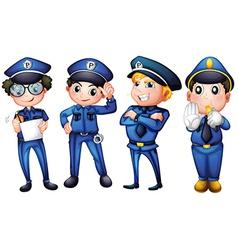 Four policemen vector