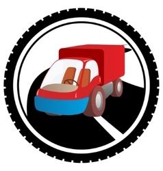 Freight car vector