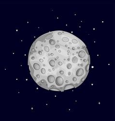 Fun cartoon gray sponge moon icon silver magic vector