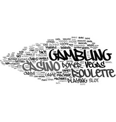 Gambling word cloud concept vector