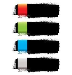 Grunge banner strip vector