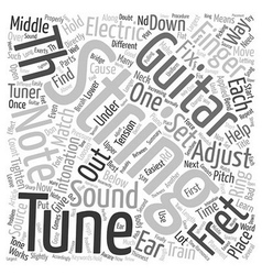 How To Tune Electric Guitar text background vector