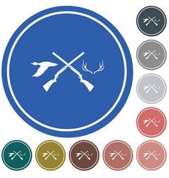 hunting club logo icon vector image