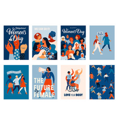 international womens day templates for vector image
