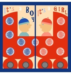 It is a boy It is a girl vector image