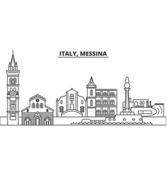 Italy messina line skyline vector