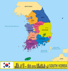 korea map vector image