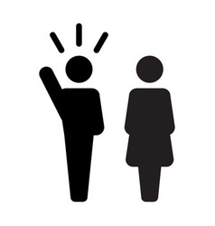 leader icon male and female public speaker vector image