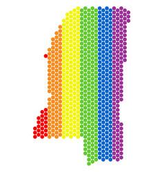 lgbt spectrum dot mississippi state map vector image