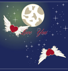 love you to moon and back vector image