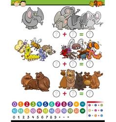 Mathematical game cartoon vector