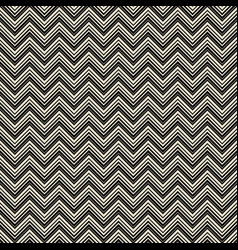 monochrome zigzag geometric seamless pattern vector image vector image