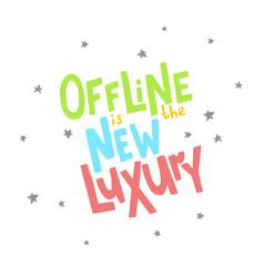 Offline lettering-01 vector