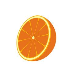 Orange fruit isolated icon vector