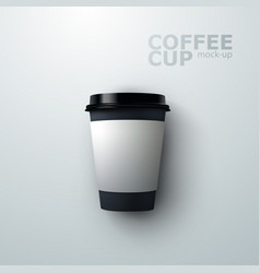 Paper coffee cup mock-up vector