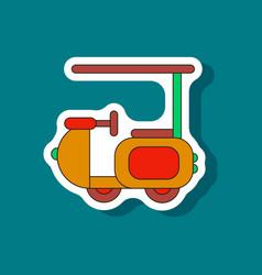 paper sticker on stylish background golf machine vector image