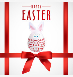 red happy easter rabbit egg poster eps file vector image