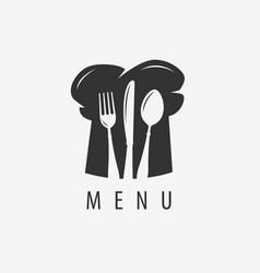 Restaurant menu logo cooking cuisine label vector