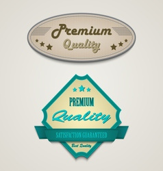 Retro vintage premium web design elements vector image