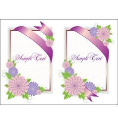 Romantic Flower Backgrounds vector image