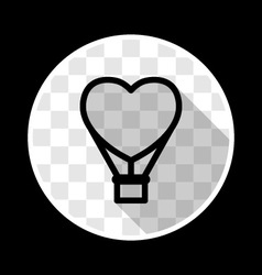 Romantic heart shaped air balloon vector image