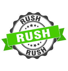 Rush stamp sign seal vector
