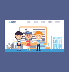 science for children landing vector image