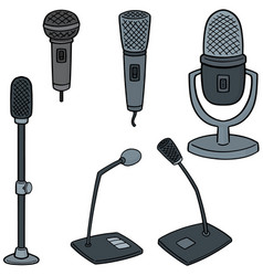 set of microphone vector image