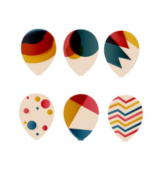 sets decorative ballon vector image