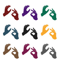 sign language icon in black style isolated on vector image