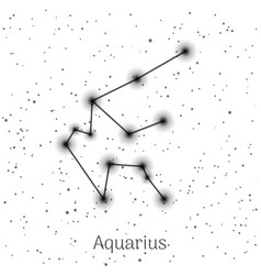 sign zodiac aquarius white sky background vector image