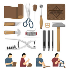 Skinner tools decorative icons set vector