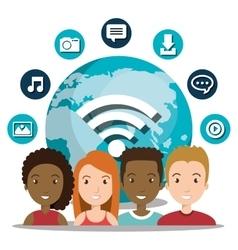 Social network design vector
