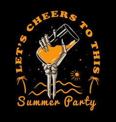 summer party vector image