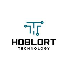 tech logo vector image