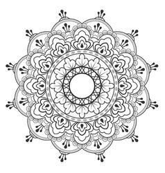 thai flower ancient art design image vector image